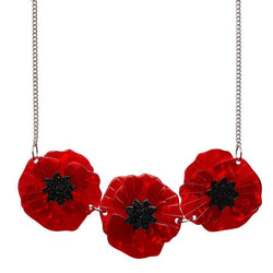 Poppy Field necklace - red