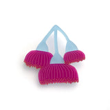 Blue/Fuchsia Flowering Gum brooch
