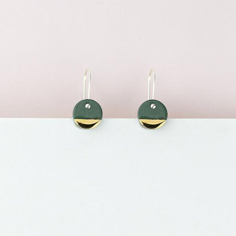 Spot Earrings - Green