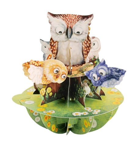 Santoro 3D Pop-Up Pirouette 'Owls'