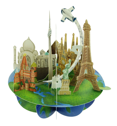 Santoro 3D Pop-Up Pirouette 'Travel The World'