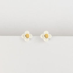Erin Lightfoot Flower Stud - White Gold