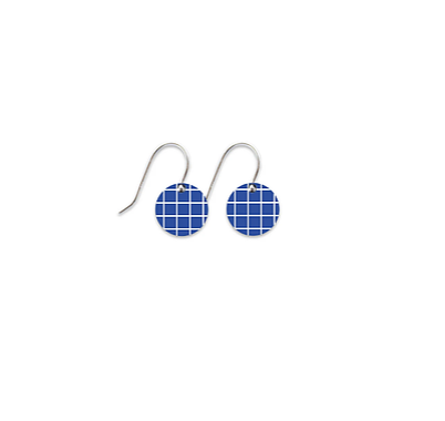 MOE MOE COOL TERRAZZO GRID SMALL CIRCLE DROP EARRINGS