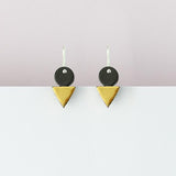 Erin Lightfoot Tri-Stack Earrings - Black