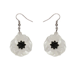 Poppy Field earrings - White