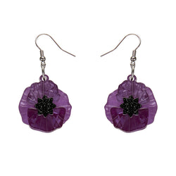 Poppy Field earrings - Purple