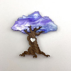 Jacaranda Tree of Life brooch