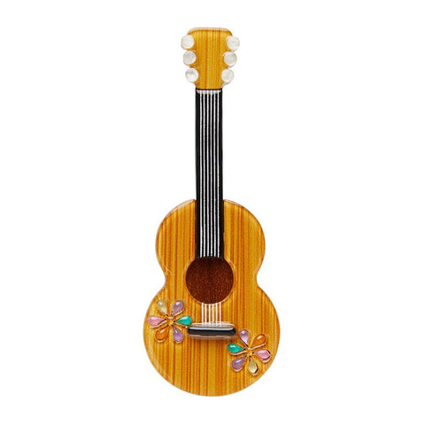 Flamenco Guitarra brooch