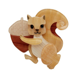 Squirreled Away brooch