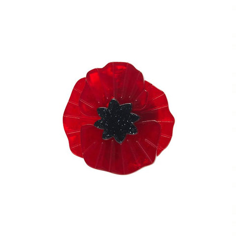 Poppy Field Mini brooch