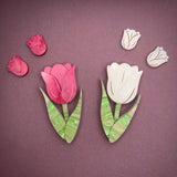 Tulip earrings - Pink