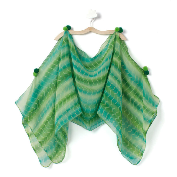 Green Stripe Burst Cape
