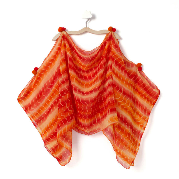 Orange Stripe Burst Cape