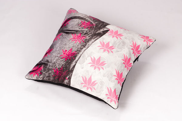 CUSHION COVER HALF BUDDHA PINK