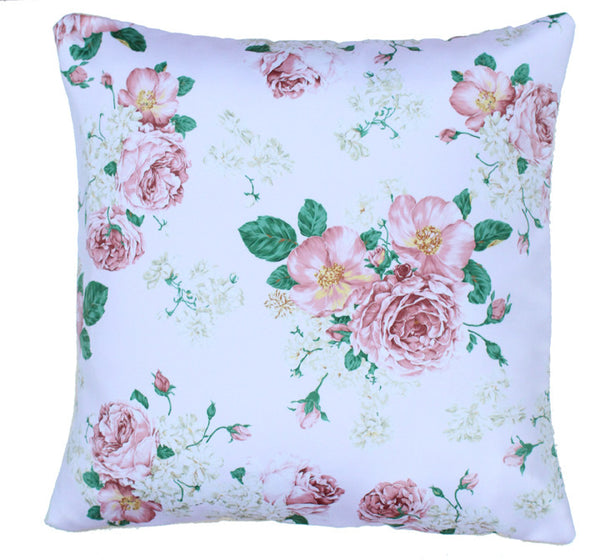 Cushion Cover Peach Bounch Of Roses
