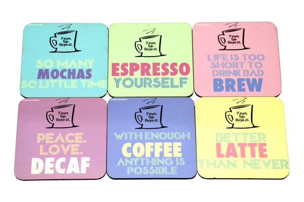 Coasters Pastel Coffee