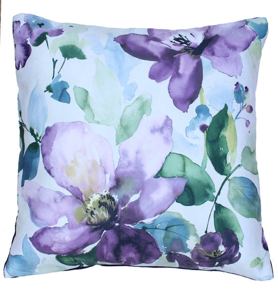 CUSHION COVER PURPLE FLOWER