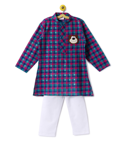Kurta Blue Checks with Pyjama