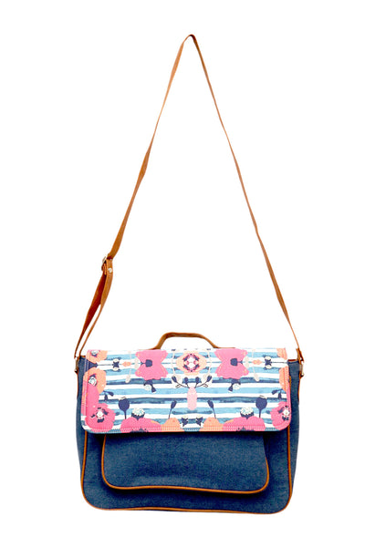Satchel Denim Flower