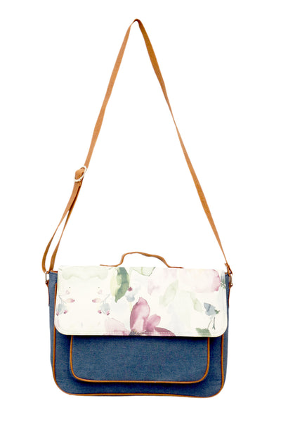 Satchel Purple Flower