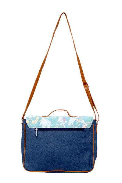 SATCHEL BAG DENIM TEA CUP