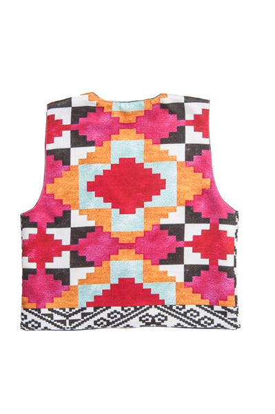 Teenage Girl Jacket Abstract In Multicolour