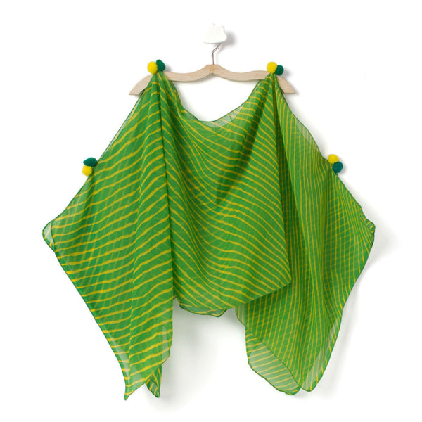 Green Burst with Yellow Cape