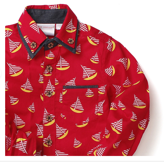 Kids Shirt Red Sails