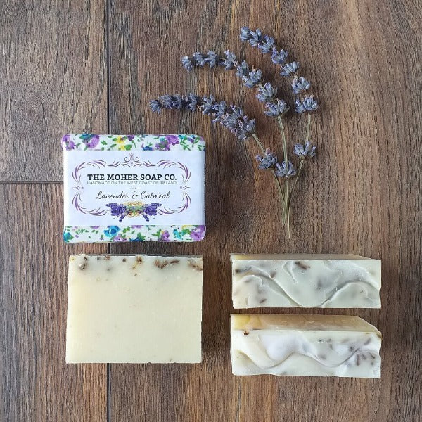 Lavender & Oatmeal Natural Soap by The Moher Soap Co.