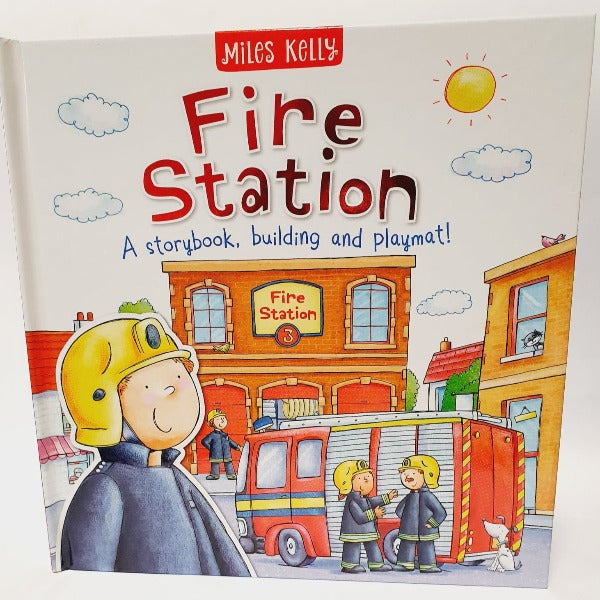 Fire Station, A Storybook, Building and Playmat! by Miles Kelly
