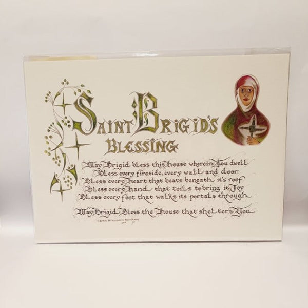 St Brigid's Blessing Calligraphy - Small