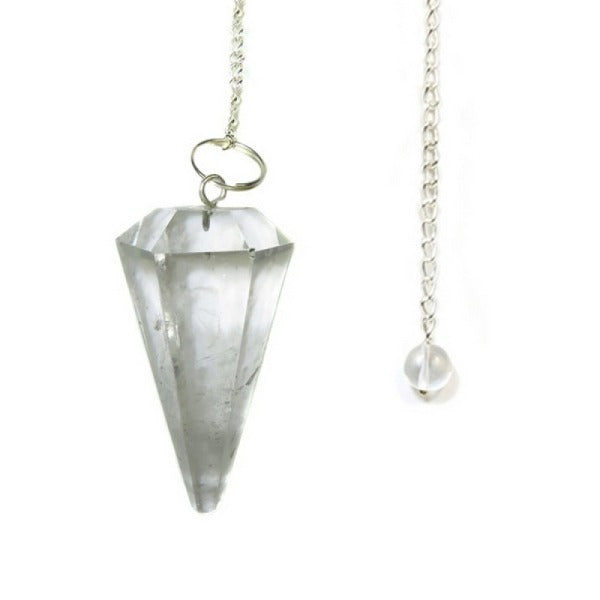 Clear Quartz Pendulum Faceted Small