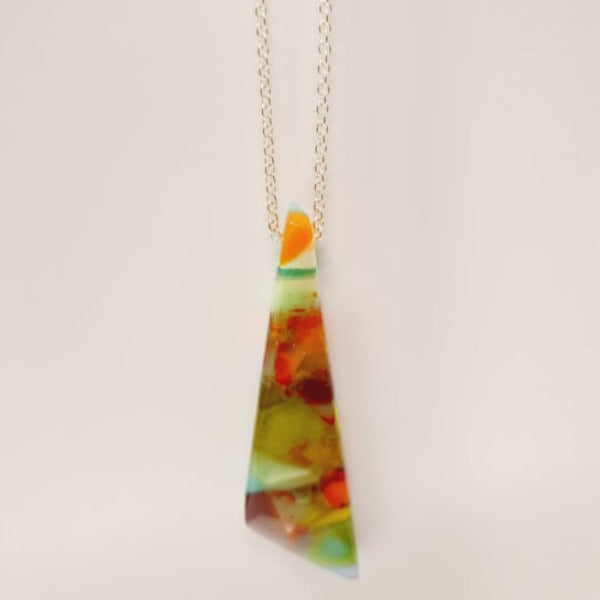 Geo Pendant - multi coloured by Mc Gonigle Glass Studio