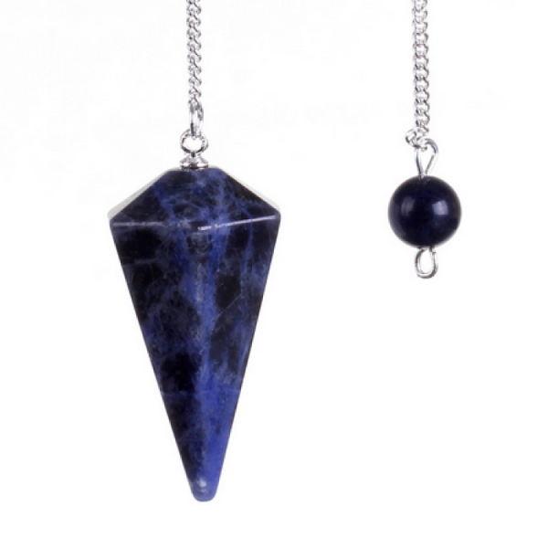 Sodolite Pendulum Faceted