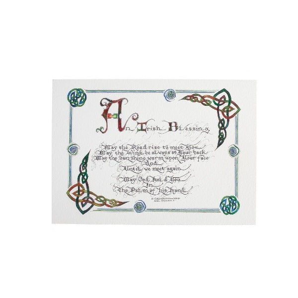 An Irish Blessing Calligraphy - Small