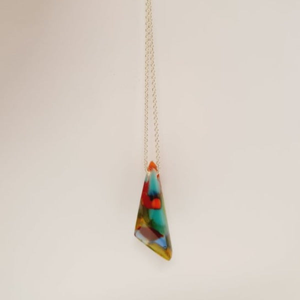 Geo pendent - Multi coloured by Mc Gonigle Glass Studio