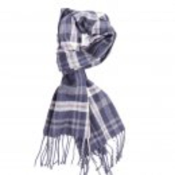 Mens Check Scarf - Blues