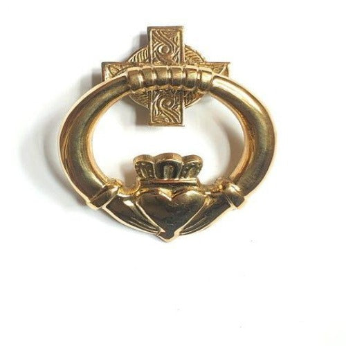 Brass Door Knocker Claddagh Medium