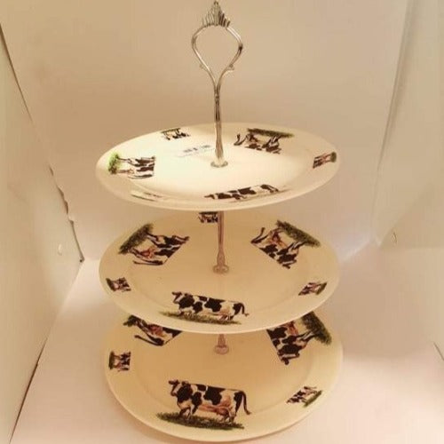 3 Tier Cow Cake Stand