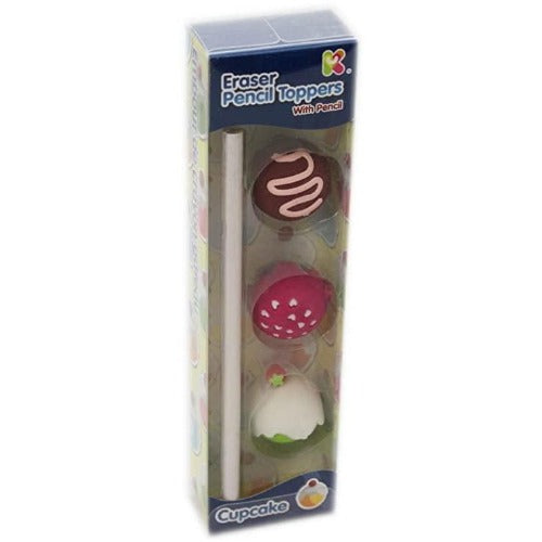Eraser Pencil toppers with pencil