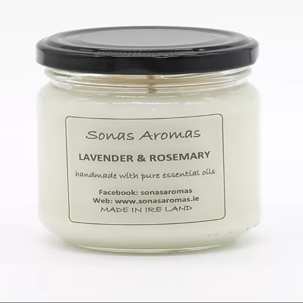 Lavender & Rosemary Candle by Sonas Aromas