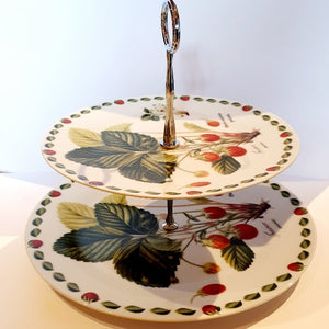 Strawberry 2 Tier Cake Stand