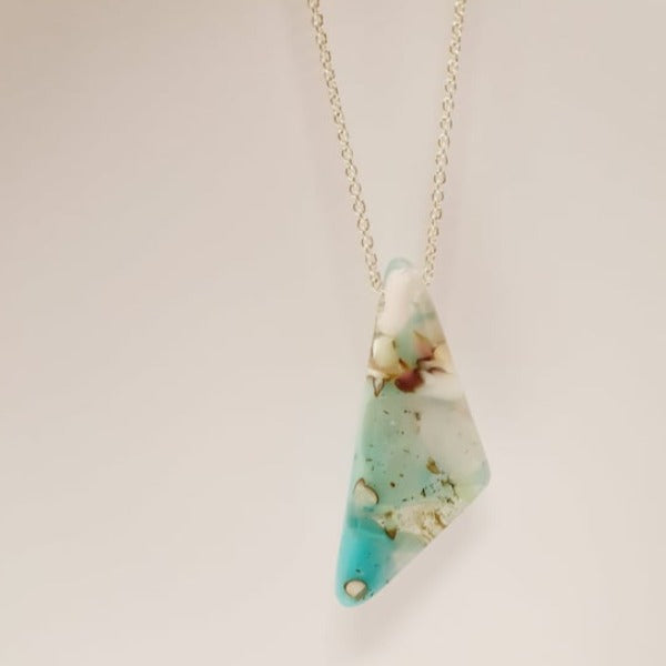 Geo Pendant - Pastels by Mc Gonigle Glass Studio