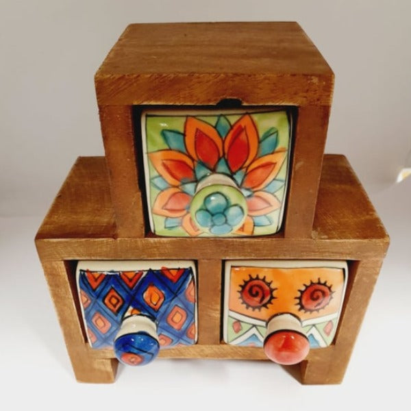 3 Drawer Stepped Trinket Box