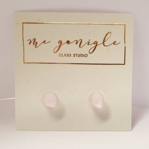Small Studs - Pink by Mc Gonigle Glass Studio