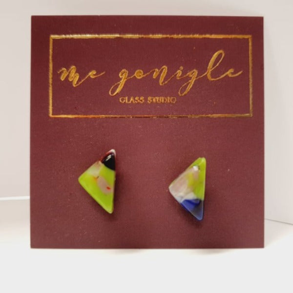 Geo Studs - Multi coloured by Mc Gonigle Glass Studio