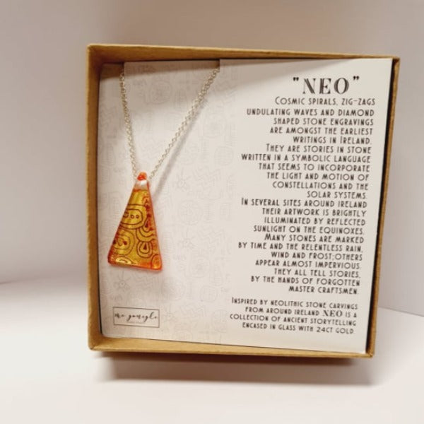 Neo Necklace - Orange by Mc Gonigle Glass Studio