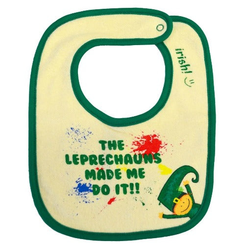 The Leprechauns Made Me Do It Bib