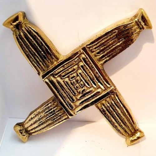 Brass St Bridget's Cross (S/R)