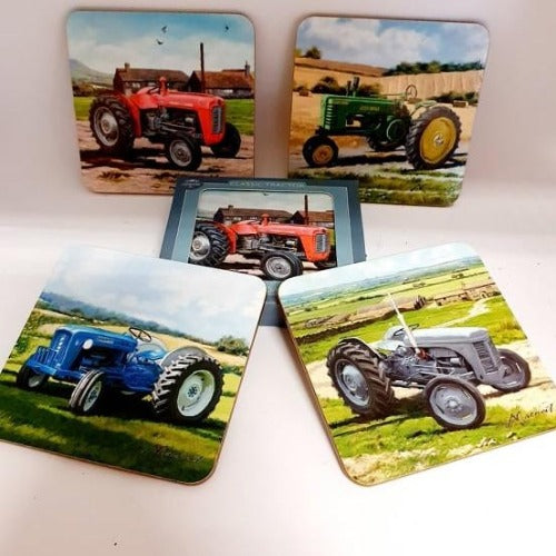 Pack of four Tractor Coasters